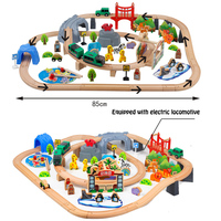 Electric Train Track Set Magnetic Educational Slot Brio Railway Wooden Train Track Station Puzzles Car Toys For Kids Children