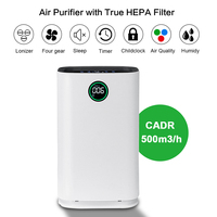 AUGIENB HEPA Filter Home Air Purifier Humidification 6 Layers of Purification for Remove Allergies PM2.5 Smoke Dust Mold Odor