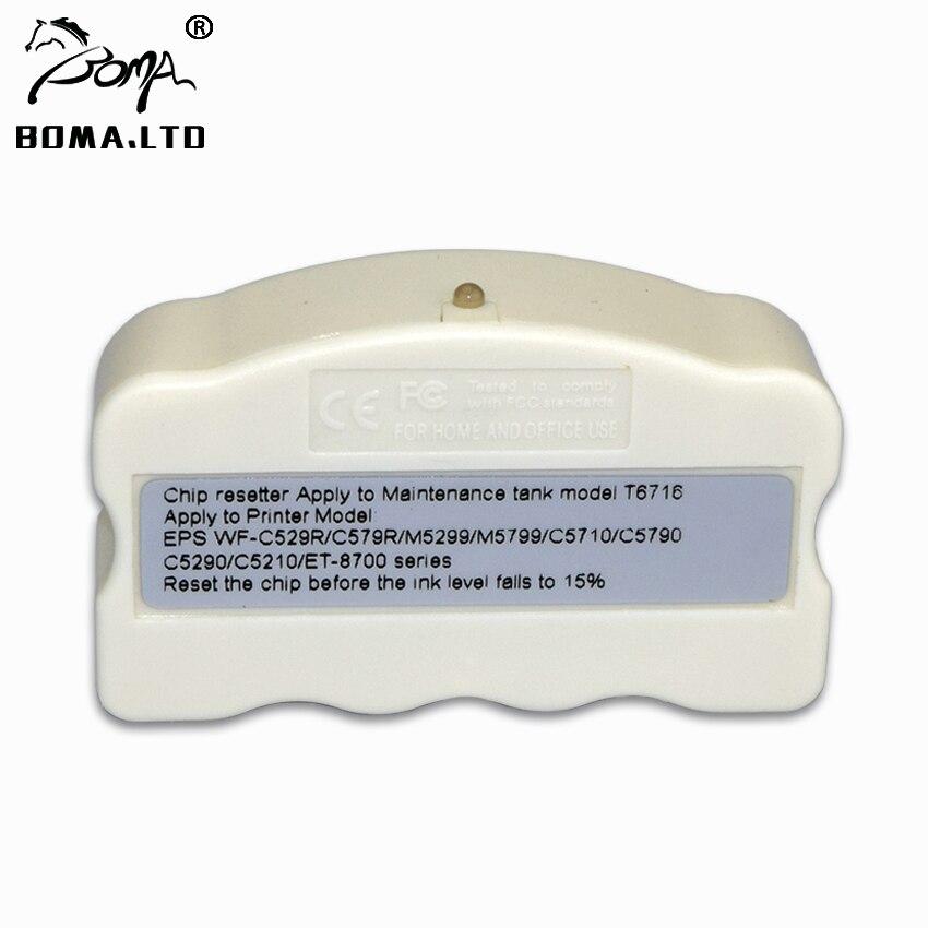 Tanque de Manutenção Resetter Chip Para EPSON WorkForce T6716 WF-C5210 WF-C5790 WF-C5710 WF-M5299 WF-M5799 ET-8700 Resíduos Do Tanque de Tinta