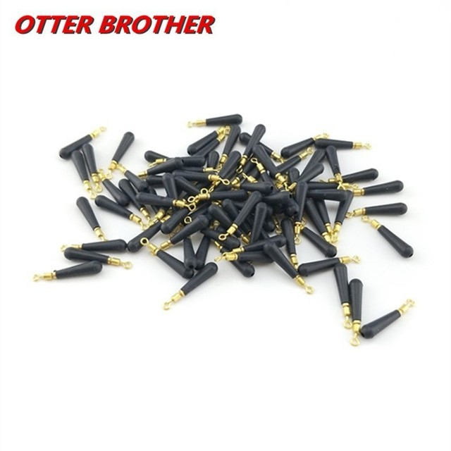 30pcs/Lot Copper Head Fishing Gear Block Rotation Drift Fishing Floats Rubber Bobber Float Seat Rest Accessories And Tools