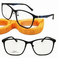 classic8611 square shape fullrim 3D temple ultra light weight ULTEM simple decorous prescription eyeglasses for men