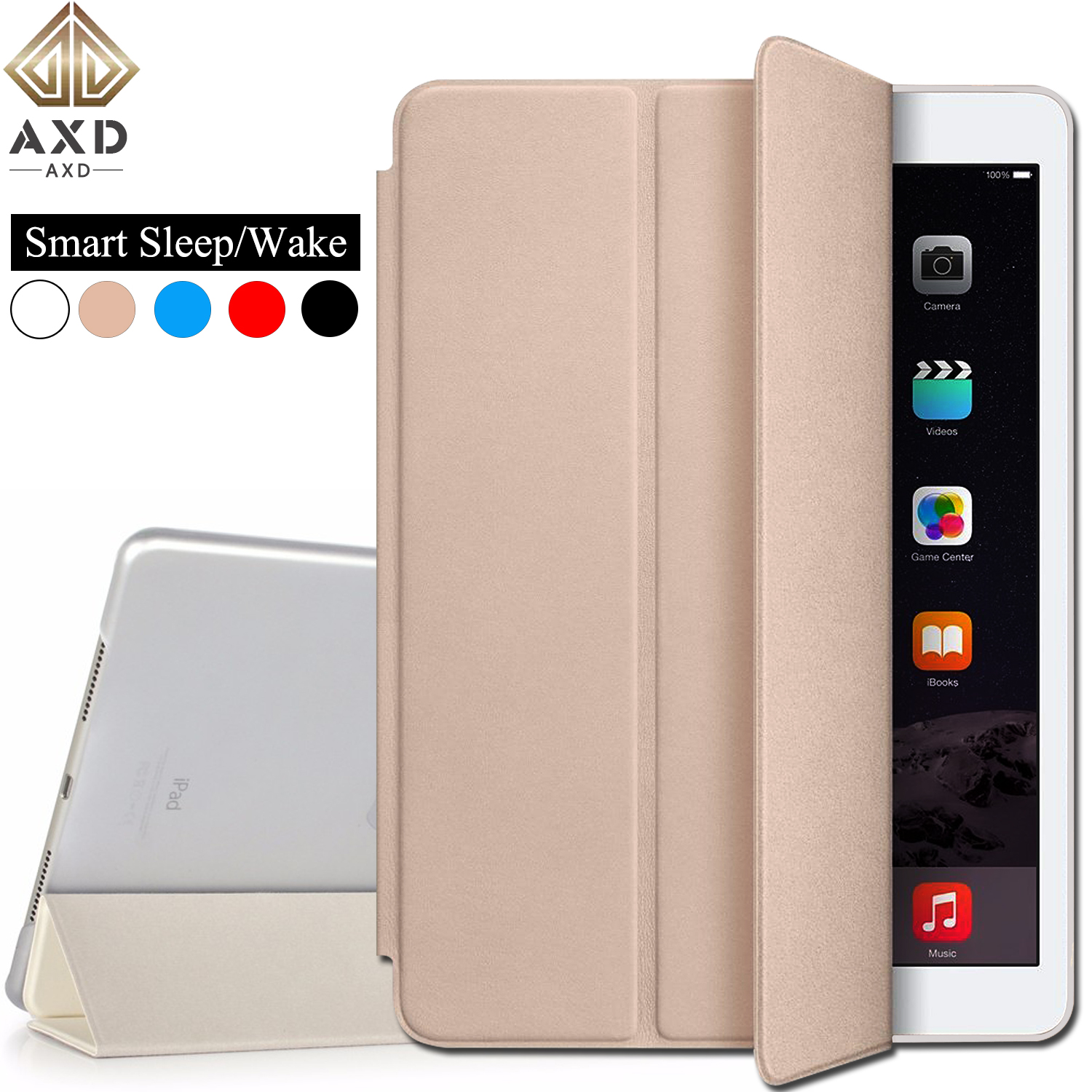 Flip Leather Tablet Case For Apple Ipad 2018 9.7 Fundas Smart Sleep Wake Cover Stand Ultra Slim Skin Card For Ipad6 A1893 A1954