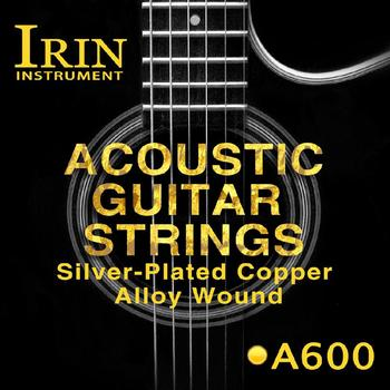IRIN 6pcs Acoustic Guitar String Set Brass Silver Plated Copper Alloy Wound Guitarra Strings Replacement Folk Guitar Accessories фото