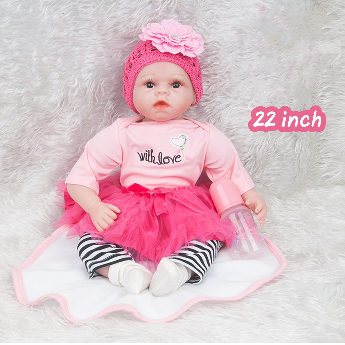 22inch 55cm  Silicone Reborn Kid Dolls Baby Lifelike Baby Doll Handmade Newborn Toy Babies Accompanying Toy Birthday Gift22inch 55cm  Silicone Reborn Kid Dolls Baby Lifelike Baby Doll Handmade Newborn Toy Babies Accompanying Toy Birthday Gift