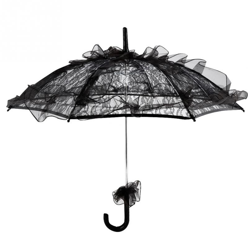 3 Section totes Steel Miniflat Black//White Wavy Dots Umbrella