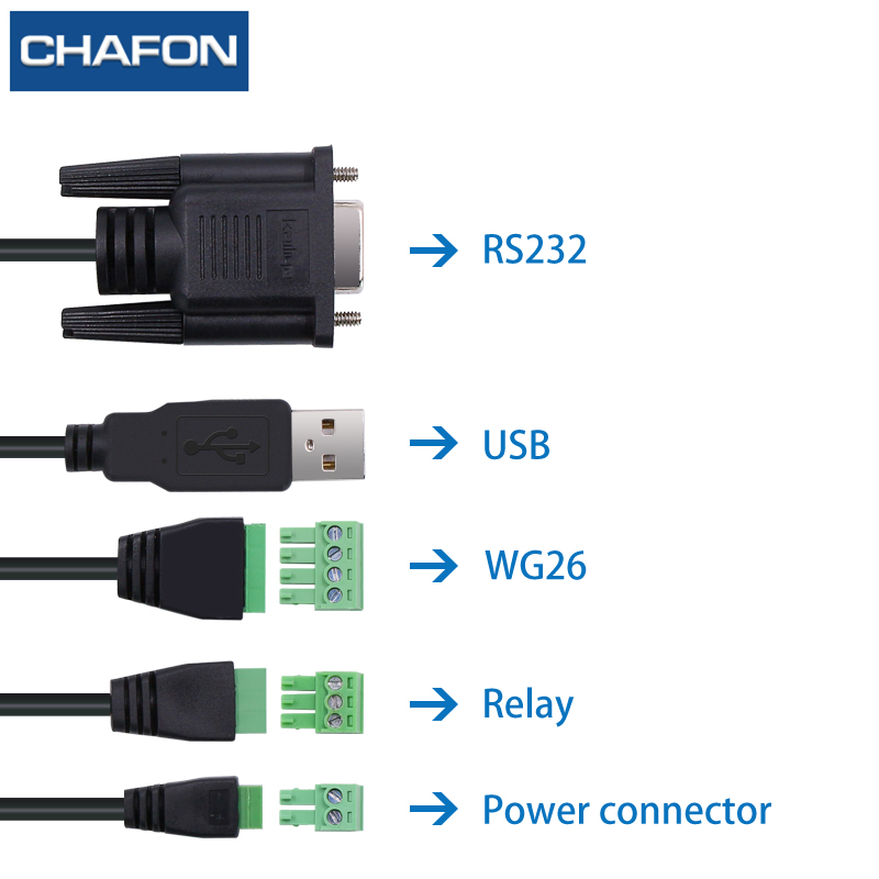 Image 5 - CHAFON 8M mid range uhf rfid integrated reader IP66 RS232 WG26 USB RELAY support firmware upgrade multiple language for parking-in Control Card Readers from Security & Protection