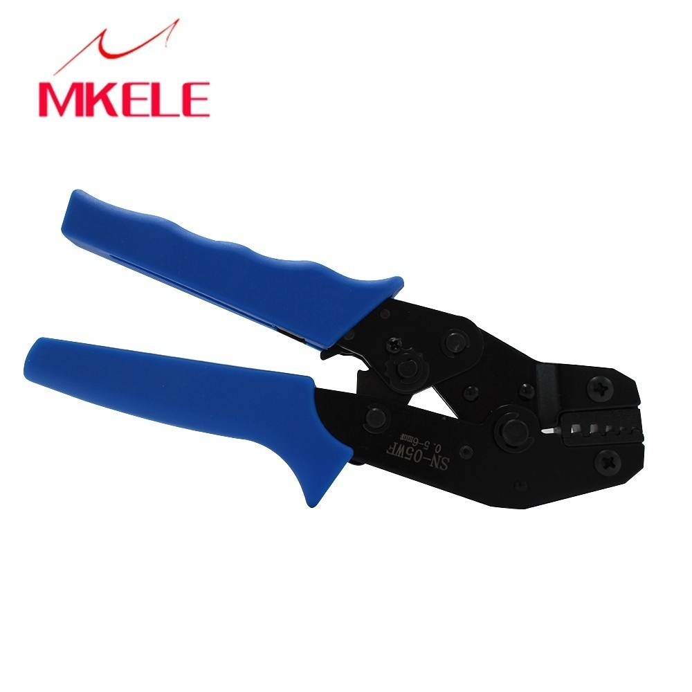 Crimping Pliers SN 05WF Mini Round Nose Plier Tube Needle Terminals With E2508 5A 300PCS BOX Insulated Connector Crimping Tool in Pliers from Tools
