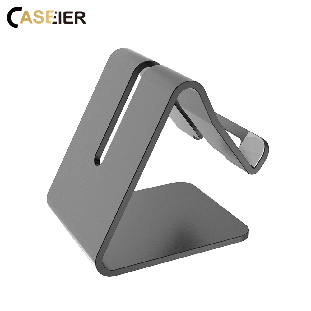 CASEIER Mobile Phone Holder Stand For iPhone 8 7 Plus Aluminum Alloy Universal Smartphone Desk Tablet Holder For Samsung Xiaomi in Phone Holders Stands from Cellphones Telecommunications