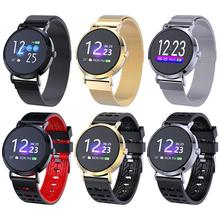 Color Round Screen Smart Bracelet Heart Rate Movement Wristband Blood Pressure Dynamic Monitoring Sleep Step Counter Waterproof