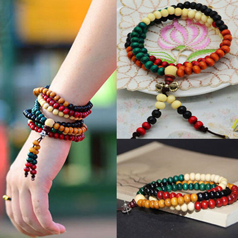 Bracelet Spirituality Handmade Natural Multicolor Energy Lucky Hot Unisex Wristband Fengshui