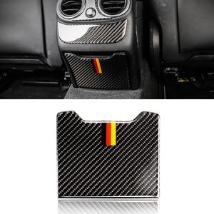 Image 2 - עבור מרצדס בנץ C Class W205 C180 C200 C300 GLC260 סיבי פחמן רכב האחורי משענת תיבת אחסון לוח כיסוי