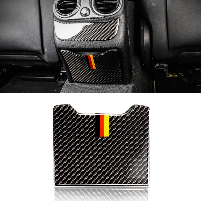 Image 2 - For Mercedes Benz C Class W205 C180 C200 C300 GLC260 Carbon Fiber Car Rear Armrest Storage Box Panel Cover-in Interior Mouldings from Automobiles & Motorcycles