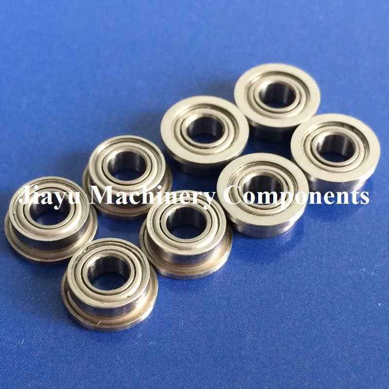"10 PCS 1//4/"" x 1//2/"" x 3//16/"" Stainless Steel FLANGED Ball Bearing SFR188zz"