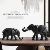 Elefanten figurine 2/set harz für home office hotel dekoration tabletop tier moderne handwerk Indien weißen Elefanten statue decor