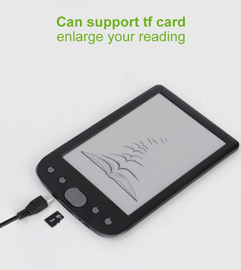 Claite 8G BK-6025 2500 mah lecteur e-book e-ink 6 pouces résolution eBook lecteur mémoire ebook (lumière frontale intégrée) - 4