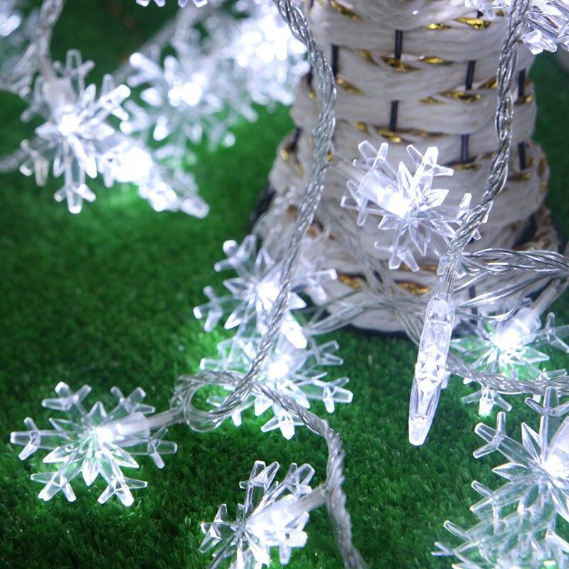 2019 Neuer Stil Claite Gartenarbeit 5 Mt 40led String Licht Schnee Form Urlaub Garten Party Hochzeit Dekoration Modischer (In) Stil;