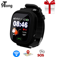 New Arrival Q90 GPS Phone Positioning Fashion WIFI Children Watch 1.22 Inch Color Touch Screen WIFI SOS Baby Smart Watch gift
