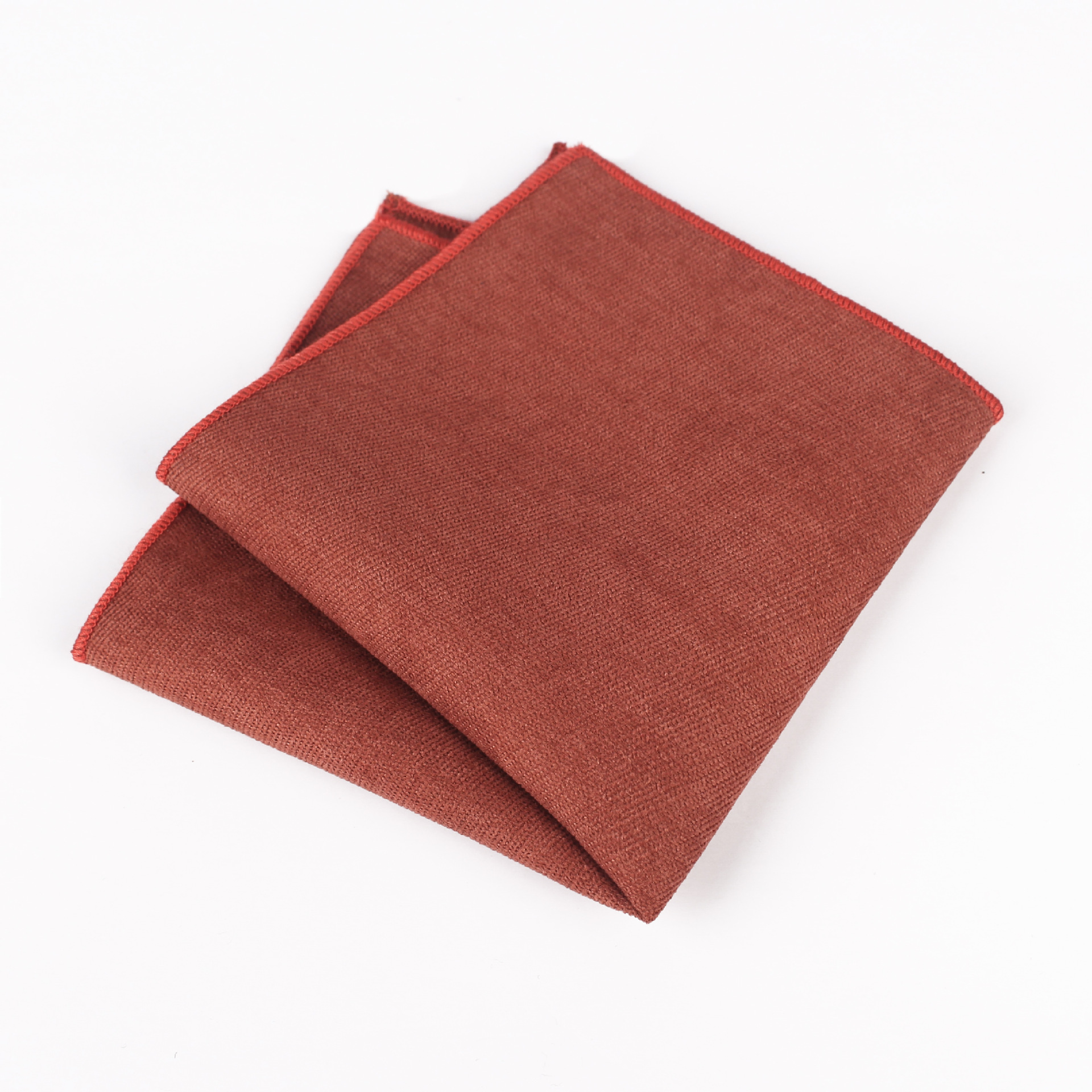 Mantieqingway  Men's Solid Color Suede Hot Sale Explosion Pocket Towel 15 Color Optional Men's Dress Handkerchief Square
