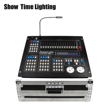 купить SHOW TIME New Sunny 512 DMX Controller with flycase Stage light DMX Master console flight box for XLR-3 led par beam moving head по цене 13291.61 рублей
