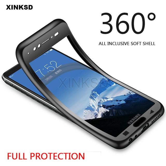 Caso para Xiaomi mi Pocophone F1 A2 Lite A1 8 SE 6 nota 3 6X mi 8 360 grados completa redmi 5 Plus 6A S2 Nota 4X4 de 6 5 Pro caso