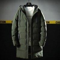 Varsanol New Men's Parkas Long Cotton Winter Jacket Coat For Men Brand Bomber Jacket Thick Parka Homme Warm Tops 20 Degree