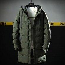 Varsanol Новая Мужская парка длинная хлопковая зимняя куртка пальто для мужчин брендовая куртка-бомбер Толстая парка Homme Теплые Топы-20 градусов