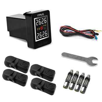 U912 Car Wireless Tire Pressure Monitoring System 4 Internal Anti-theft Sensors LCD Real-time TPMS For Toyota Land Cruiser Reiz