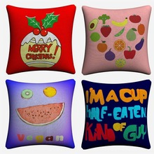 Cartoon Fruits Abstract Design Decorative Cotton Linen Cushion Cover 45x45cm Throw Pillow Case For Sofa Home Decor Almofada цены