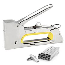 4/6/8MM Heavy Hand Nail Gun Furniture Stapler For Framing Paper Window with 2400pc Staples Woodworking Tacker Tools(China)