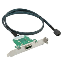 Durable Black Server Transmission Cable Sff 8088 To Sff 8643 Computer Hard Disk Data Cable