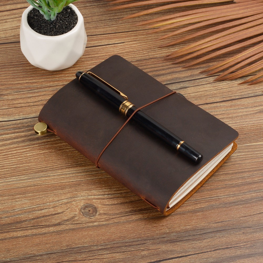 Image 2 - New Arrivals Field Notes Journal Cover Genuine Leather Notebook Planner Handmade Travel Agenda Pocket Diary Vintage StationeryNotebooks   -