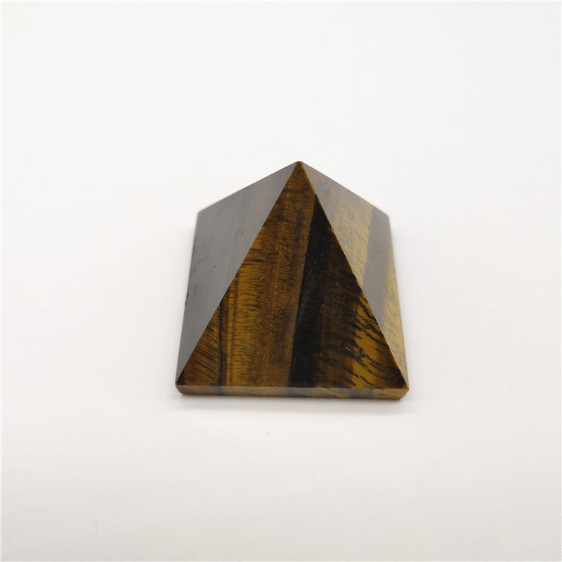 Natural Yellow Tiger Eye Stone Pyramid Decoration Home Feng Shui Ornaments High Quality Aura Energy Crystal Healing Stone