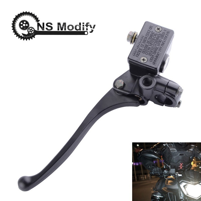NS Modify 22mm Motorbike Front Brake Cylinder Reservoir levers Lever Brake Hydraulic Clutch Pump For Yamaha Suzuki Honda image