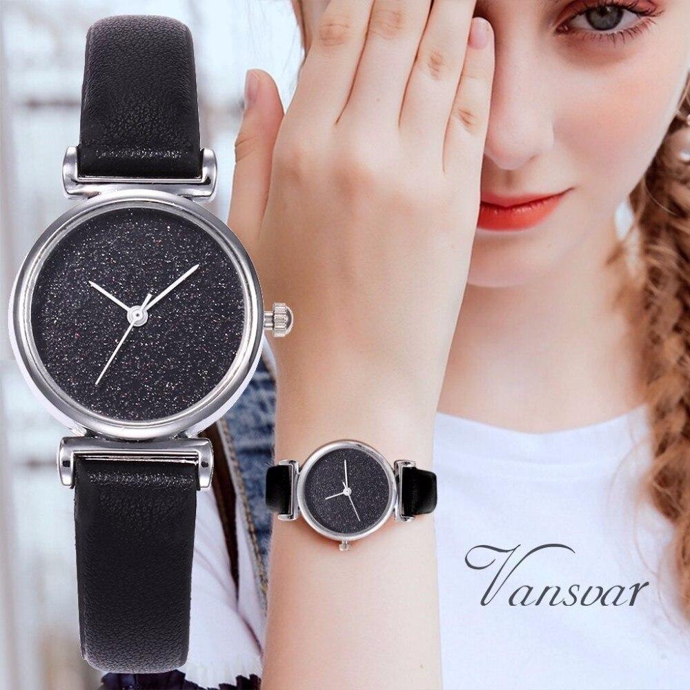 Dropshipping Fashion Women Starry Sky Watch Luxury Leather Small Female Clock Ladies Quartz Wristwatches Relogio Feminino