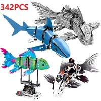 342PCS Forma Fish Set Building Blcoks Sembo Compatible Lego Creator Expert Koi Shark Bricks Toy Kids Gift Classic bricks WJ088