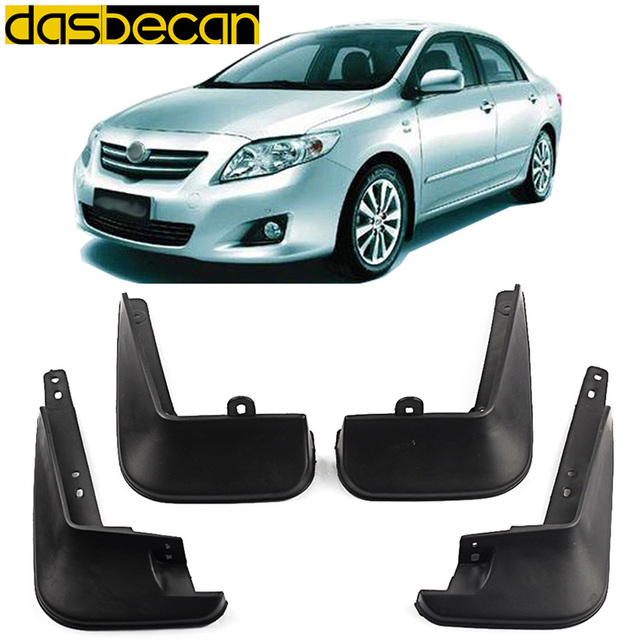Dasbecan Car Mudguards For Toyota Corolla 2006 2013 Car Fender Accessories Splash Guard Paneling 2006 2007 2008 2009 2010 2013