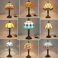 Vintage Retro Stained Glass Turkish Table Lamp 110V 220V Creative Art Turkish Mosaic Lamps Bedroom Light Decoration With Plug in
