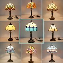Vintage Retro vitral turco lámpara de mesa 110V 220V Arte Creativo turco lámparas de mosaico dormitorio Luz Decoración con enchufe