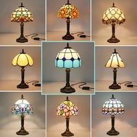 Vintage Retro witraż turecki lampa stołowa 110V 220V Creative Art turecki mozaika lampy sypialnia dekoracja świetlna z wtyczką w Lampy stołowe od Lampy i oświetlenie na