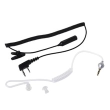 CATS 2-Pin PTT Mic Headset to 3.5mm Air Acoustic Tube Earpiece for Baofeng UV-5R 888s(China)