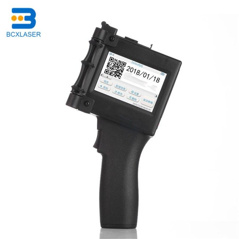 Industrial Handheld Portable Inkjet Printer Bar Code Qr Code Printer For Batch Code Expiry Date