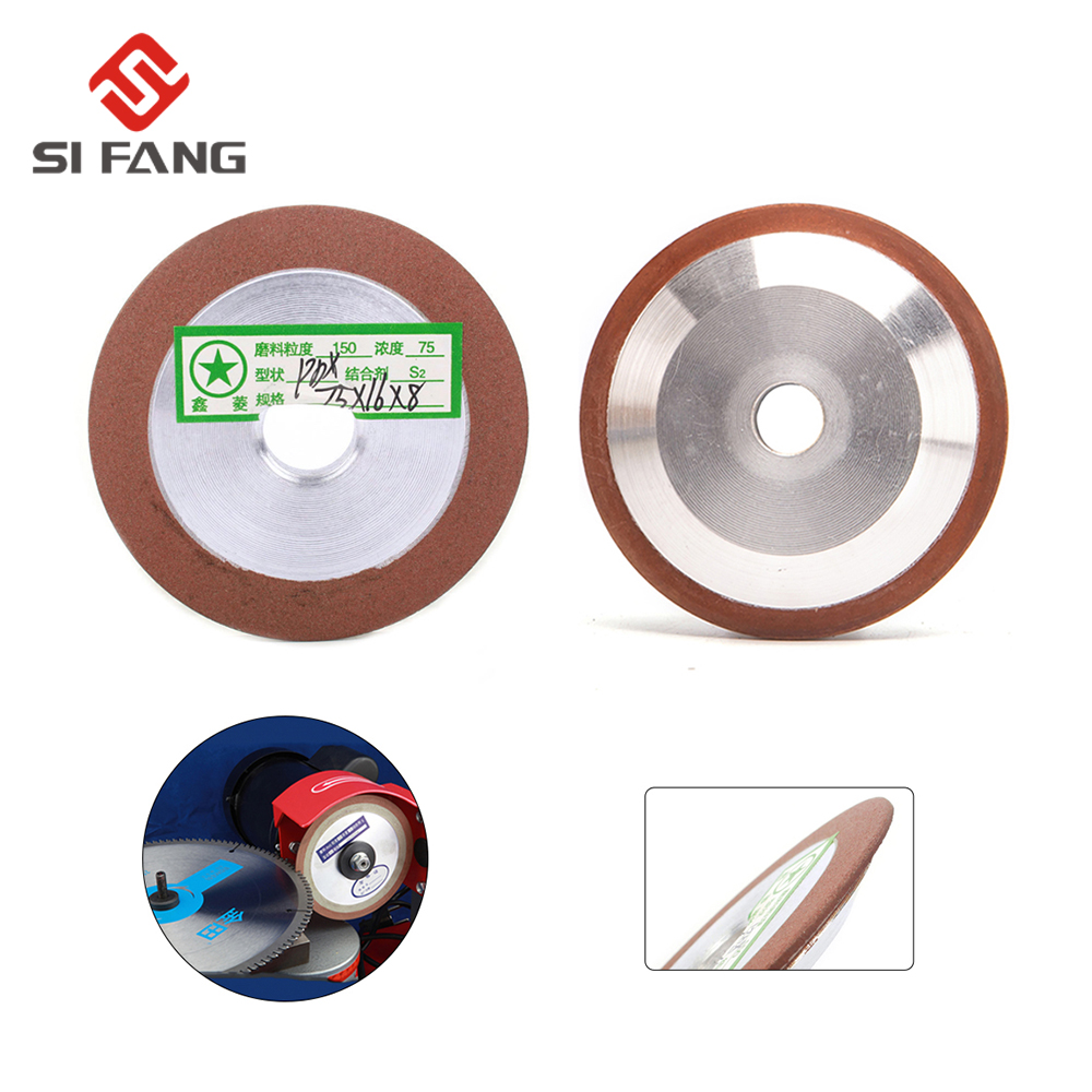 75mm Grinding Diamond Wheel Saw Blade Sharpener For Carbide Cutter Tool Metal Alloy Milling Grinder Accessories Grit150