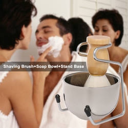 Мужской набор для бритья, щетка для бритья + мыльница + подставка, мужской набор для чистки волос для лица, набор для бритья