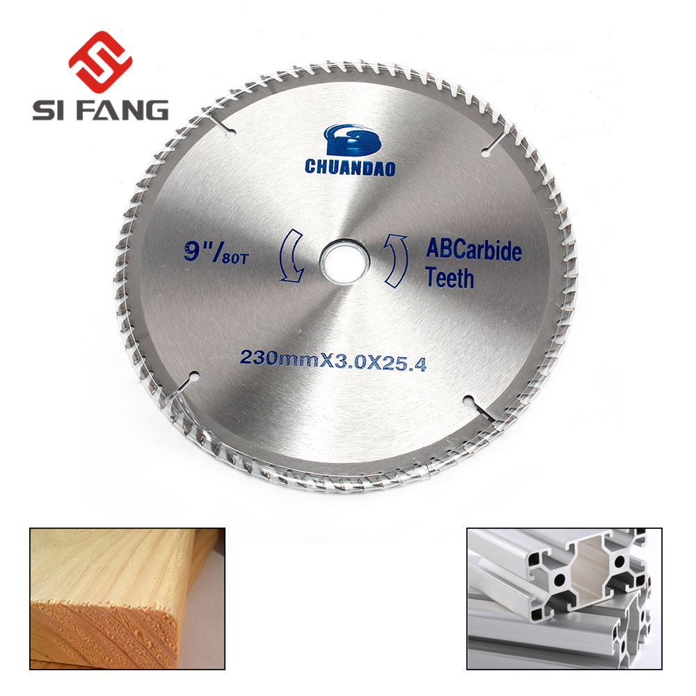 Si FANG Multi-functional Circular Saw Blade 230x25.4x80T TCT Hard Alloy Saw Blade Outter Diameter 230mm(9