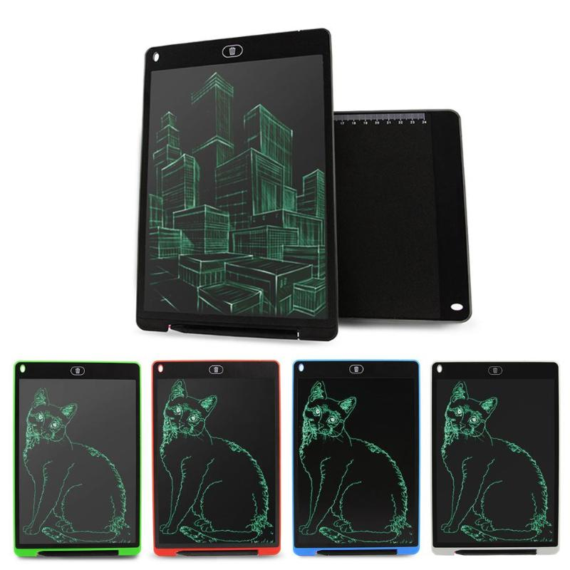 12 Inch LCD Writing Tablet Digital Drawing Tablet Handwriting Pad Portable Electronic Graphics Notepad Board With CR2032 Battery writing