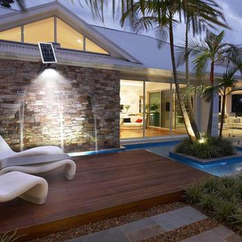 36/54/120 LED Lampe Solaire Télécommande étanche Extérieur Jardin Cour Garage Sécurité Lumière Réverbère