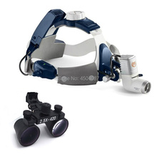 2.5X420mm Medical Loupes Binocular Magnifier Medical Dental Surgical Loupes+ 5W LED Medical Headlight Headlamp 2 Battery цены