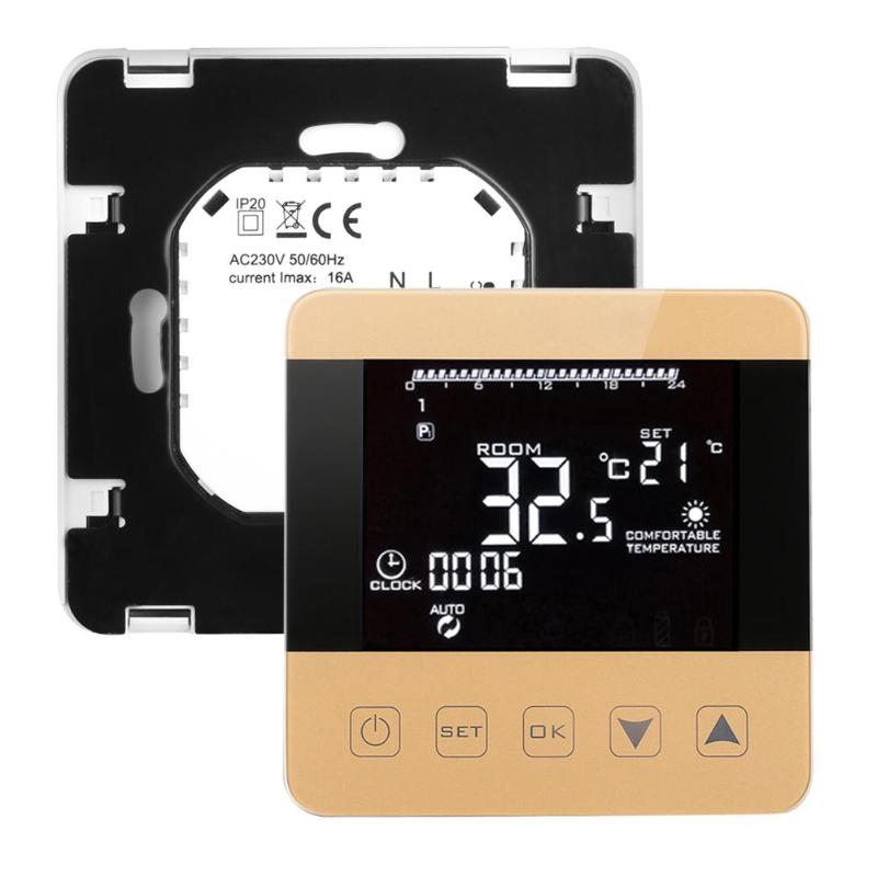 Wifi Programmable Temperature Regulator Heating Thermostat Digital LCD Touch Screen Temperature Controller for Warm Room valve radiator linkage controller weekly programmable room thermostat wifi app for gas boiler underfloor heating