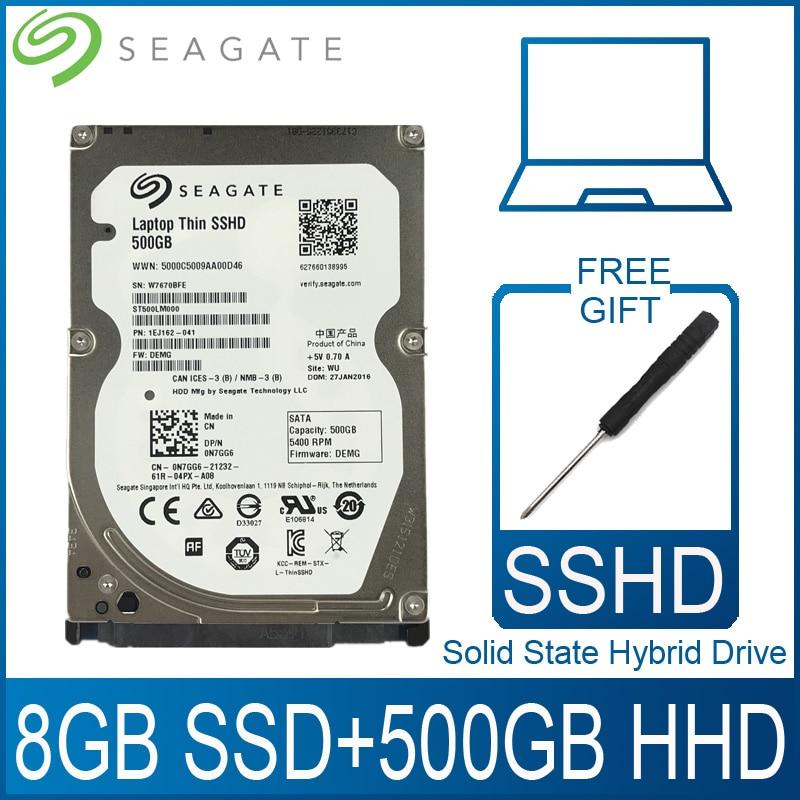 Твердотельный гибридный накопитель Seagate, 500 Гб, жесткий диск SSD, жесткий диск HD SATA III, 6 ГБ/сек., 5400 об/мин, 64 Мб кэш, 2,5 дюйма, для ноутбука, PS4