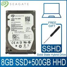 Seagate disco rígido híbrido, 500gb de estado sshd disco rígido ssd hdd hd sata iii 6 gb/s 5400 rpm 64m cache 2.5